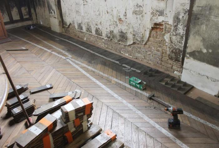Envers du chantier - La restauration des parquets