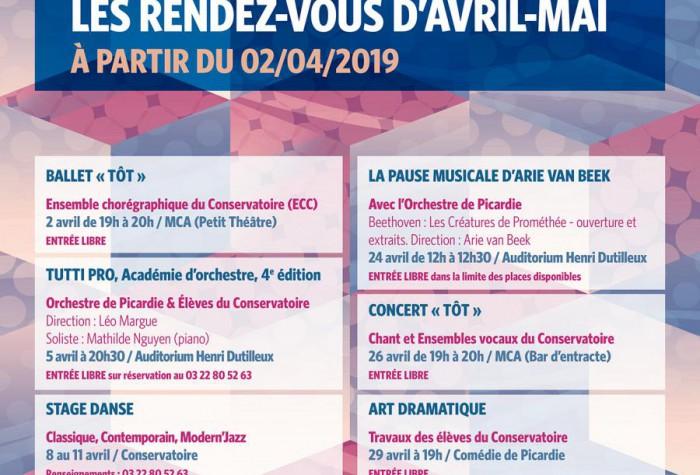 Les Rendez-Vous d'Avril-Mai du Conservatoire