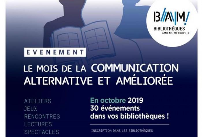 Les bibliothéques d'Amiens metropole organisent le mois de la communication alternative et améliorée