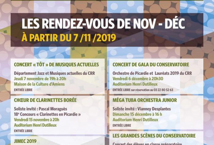 Les Rendez-Vous de Nov-Déc du CRR