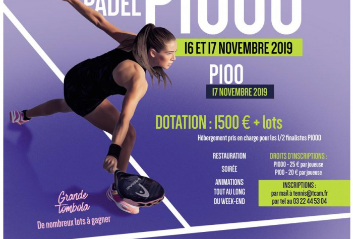 PADEL - TOURNOI NATIONAL P1000 FEMININES
