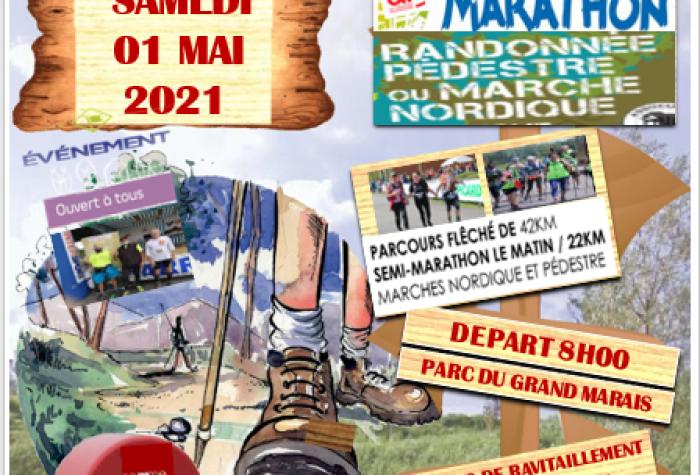 MARCHE NORDIQUE + RANDONNÉE PÉDESTRE : Les Foulées Samariennes - 12ème Marathon pédestre